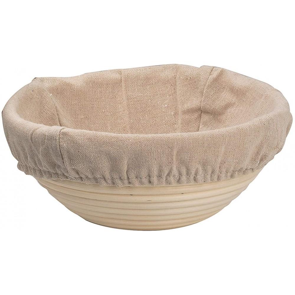 Банетоне - комплект кошница за втасване на хляб с ленено покритие, шпатула и държач с  ножче